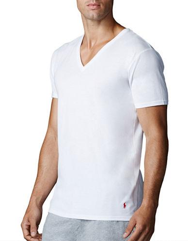 Polo Ralph Lauren Supreme Comfort Jersey V Neck 2 Pack-WHITE-Small