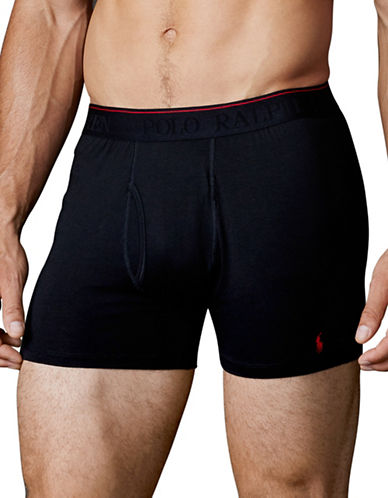 Polo Ralph Lauren Supreme Comfort Boxer Brief 2 Pack-BLACK-X-Large