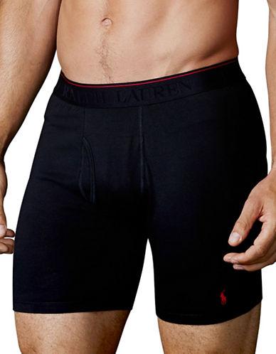 Polo Ralph Lauren Supreme Comfort Long Leg Boxer Brief 2 Pack-BLACK-Small