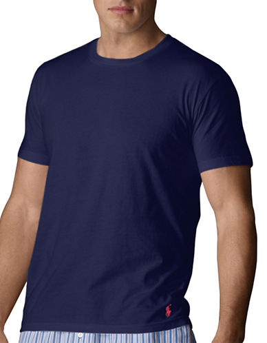 Polo Ralph Lauren Short Sleeve Crew Supreme Comfort-BLUE-Small
