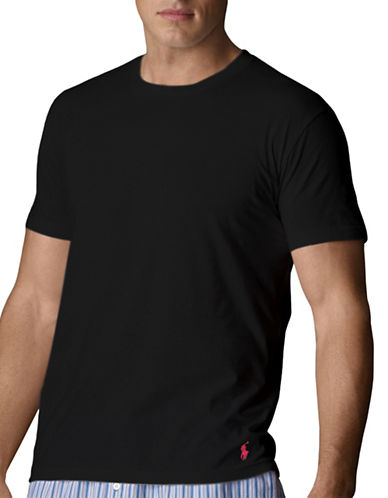 Polo Ralph Lauren Short Sleeve Crew Supreme Comfort-BLACK-Small