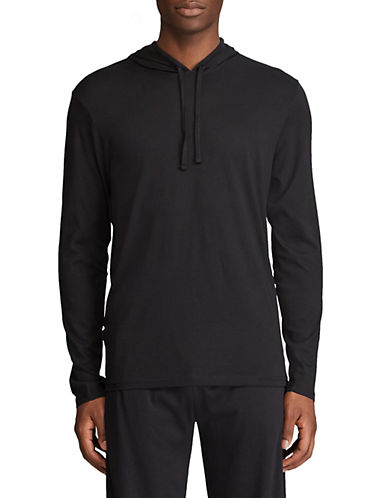 Polo Ralph Lauren Long Sleeve Hoodie Supreme Comfort-BLACK-Medium