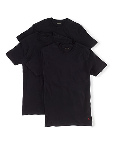 Polo Ralph Lauren Classic Cotton Three Crew-BLACK-Medium