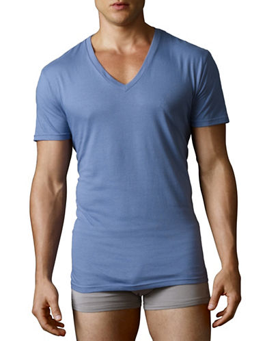 Polo Ralph Lauren Three V-necks-BLUE-Medium