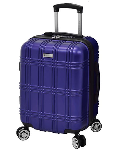 London Fog Kingsbury 20-Inch Expandable Hardside Spinner-BLUE-20