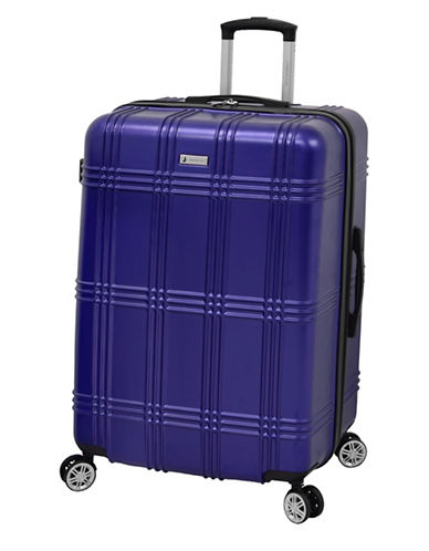 London Fog Kingsbury 29-Inch Expandable Hardside Spinner-BLUE-29