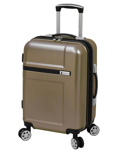 London Fog Southbridge 20-Inch Expandable Hardside Spinner Carry-On Suitcase-BROWN-20