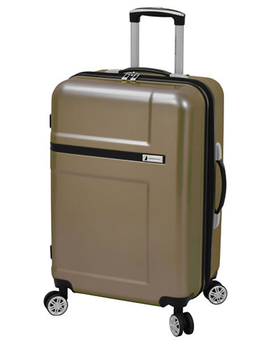 London Fog Southbridge 24-Inch Expanded Hardside Spinner Suitcase-BROWN-24