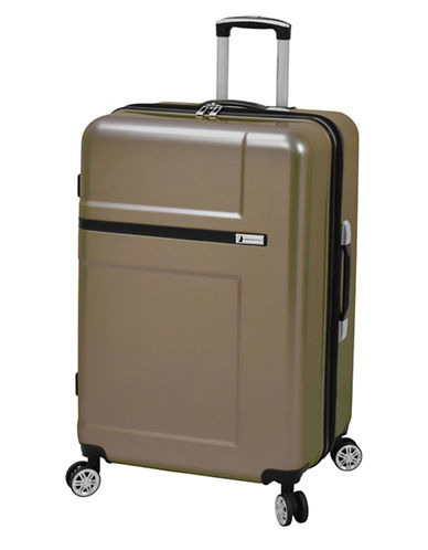 London Fog Southbridge 28-Inch Expanded Hardside Spinner Suitcase-BROWN-28