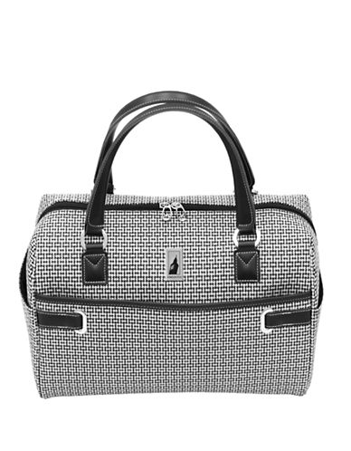London Fog Stratford 17-Inch Cabin Bag-BLACK/WHITE-17