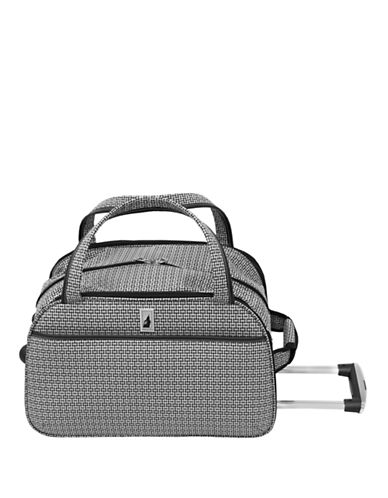 London Fog Stratford 19-Inch Wheeled Club Bag-BLACK/WHITE-19