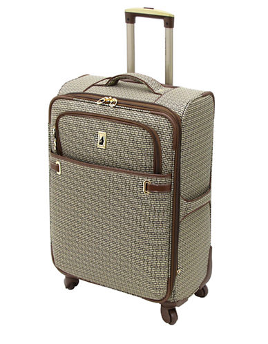 London Fog Stratford 24-Inch Expandable Upright Spinner-TAN-24