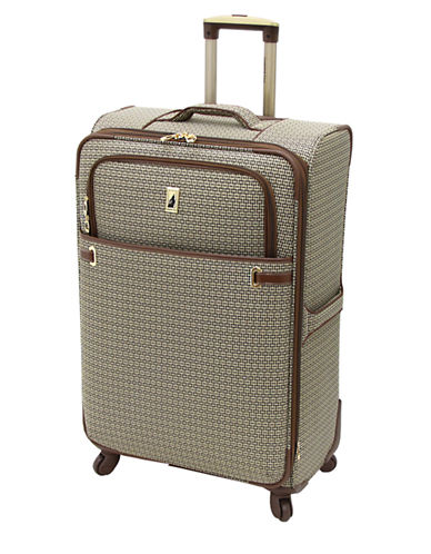 London Fog Stratford 28-Inch Expandable Upright Spinner-TAN-28