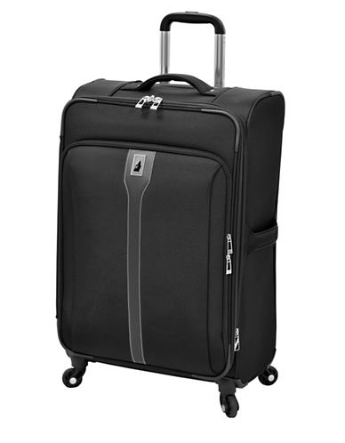 London Fog Knightsbridge 25  Expandable Spinner-BLACK-25
