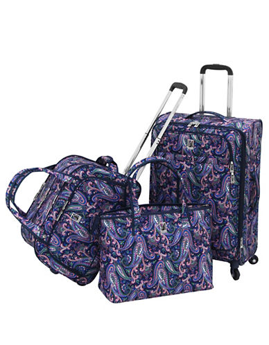 London Fog Bloomsbury Three-Piece Luggage Set-NAVY-3pc