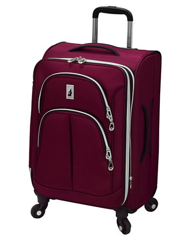 London Fog Coventry 20-Inch Expandable Spinner Suitcase-PLUM-One Size