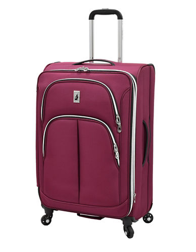 London Fog Coventry 25-Inch Expandable Spinner Suitcase-PLUM-25