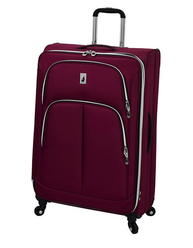London Fog Coventry 29-Inch Expandable Spinner Suitcase-PLUM-29