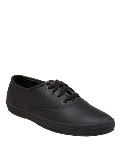 Keds Womens Keds Champion Oxford Leather Cvo-BLACK-10