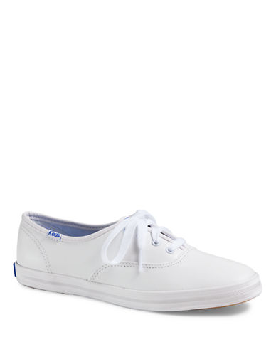 Keds Womens Leather Champion Sneaker-WHITE-8