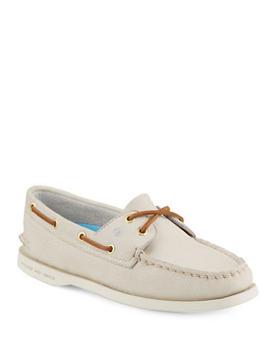 Sperry Authentic Originals 2 Eye Leather Boat Shoes-IVORY-7.5 89170777_IVORY_7.5