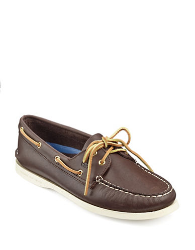 Sperry Top Sider Original 2 Eye Boat Shoes-CLASSIC BROWN-6