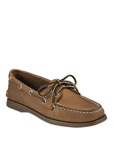 Sperry Top Sider Original 2 Eye Boat Shoes-SAHARA-7.5