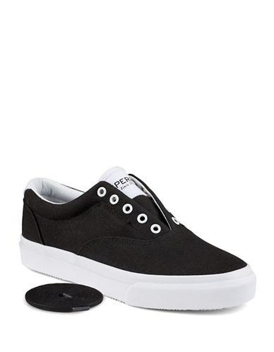 Sperry Striper Canvas Sneakers-BLACK/WHITE-9 88255547_BLACK/WHITE_9