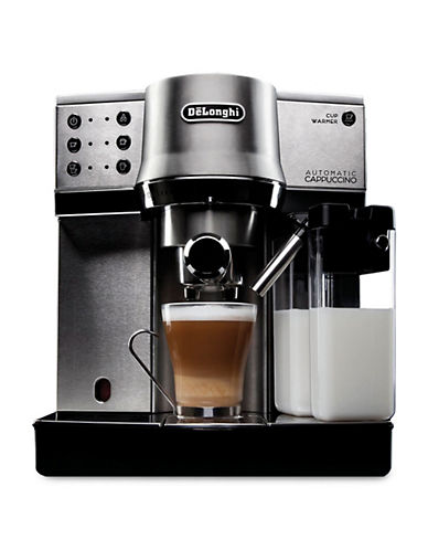 Delonghi Automatic Cappuccino Machine with Integrated Frother-SILVER-One Size