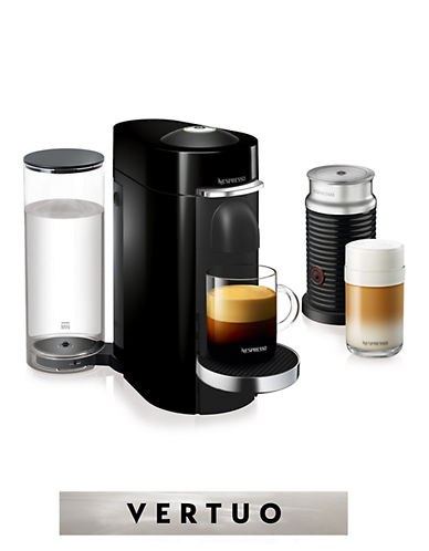Nespresso VertuoPlus Deluxe Machine with Aeroccino Milk Frother-BLACK-One Size
