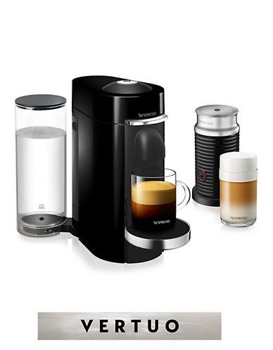 Nespresso VertuoPlus Deluxe Machine with Aeroccino Milk Frother-BLACK-One Size