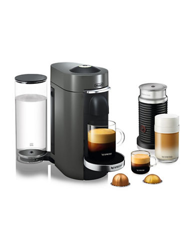 Nespresso VertuoPlus Deluxe Machine with Aeroccino Milk Frother-TITAN-One Size
