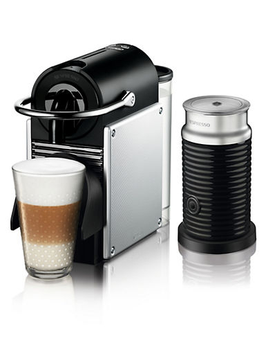 Nespresso Pixie Coffee Machine by DeLonghi with Aeroccino-CHROME-One Size