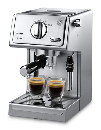 Delonghi Pump Espresso Machine-STAINLESS STEEL-One Size