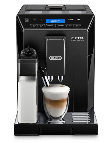 Delonghi Eletta Cappuccino Super Automatic Espresso Machine-BLACK-One Size