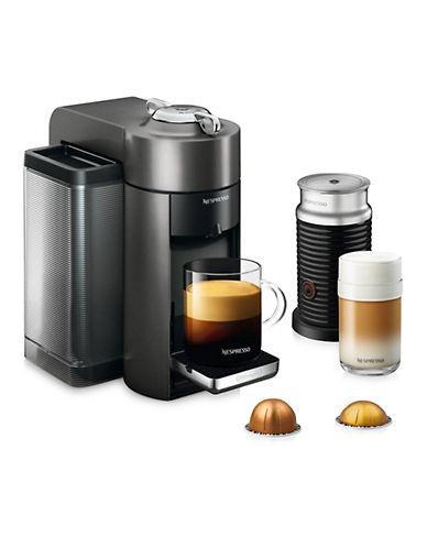 Nespresso Vertuo Coffee and Espresso Machine by DeLonghi with Aeroccino, Graphite Metal-TITAN-One Size