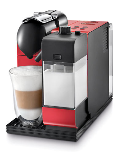Nespresso DeLonghi Lattissima Plus Espresso and Cappuccino Machine-RED-One Size