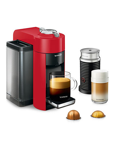 Nespresso Vertuo Coffee and Espresso Machine by De'Longhi with Aeroccino, Shiny Red-RED-One Size 88893861_RED_One Size