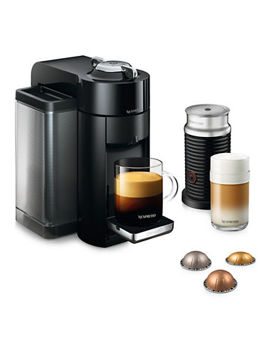 Nespresso Vertuo Coffee Machine with Aeroccino, Black-BLACK-One Size
