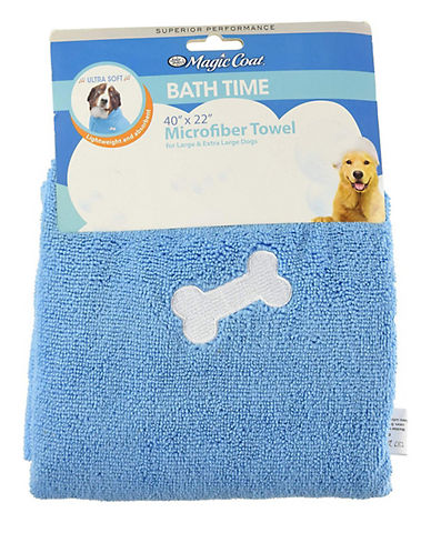Four Paws Microfiber Bath Towel-BLUE-Large