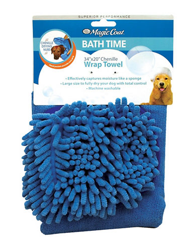 Four Paws Wrap Bath Towel-BLUE-One Size