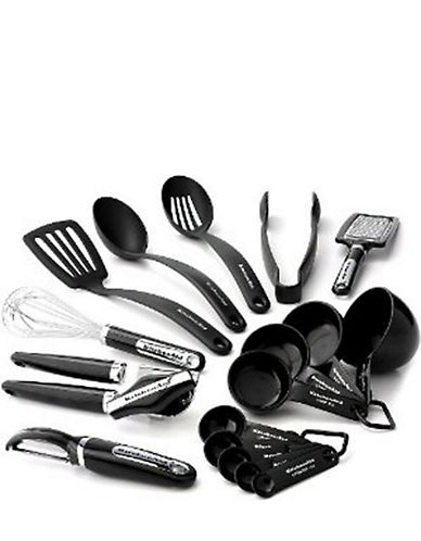 Kitchenaid 17 Piece Culinary Utensil And Gadget Set-BLACK-One Size