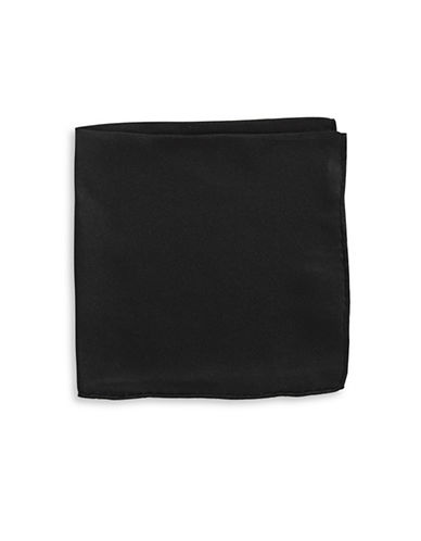 Black Brown 1826 Handsome Silk Pocket Square-BLACK-One Size