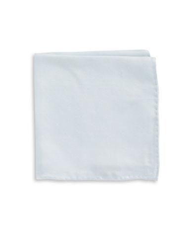 Black Brown 1826 Handsome Silk Pocket Square-LIGHT BLUE-One Size