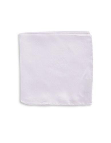 Black Brown 1826 Handsome Silk Pocket Square-PURPLE-One Size