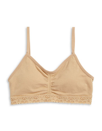Maidenform Seamless Lace-Trim Crop Bra-NUDE-Medium 88392376_NUDE_Medium