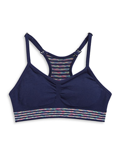 Maidenform Seamless Bralette-NAVY STRIPE-Medium