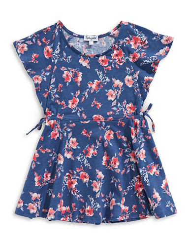 Splendid Floral Cotton Dress-BLUE-5-6