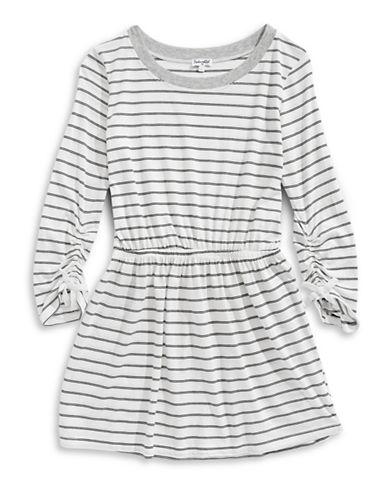 Splendid Striped Long-Sleeve Dress-WHITE-10