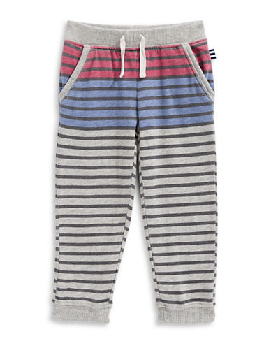 Splendid Striped Jogger Pants-GREY-7